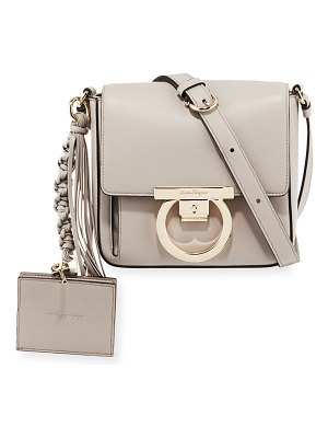 Salvatore Ferragamo Small Leather Lock Crossbody Bag