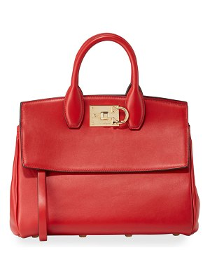 Salvatore Ferragamo The Studio Medium Leather Satchel Bag