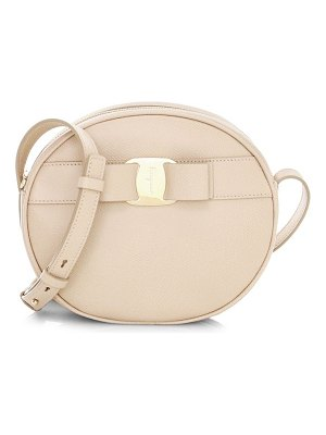 Salvatore Ferragamo vara circle leather crossbody bag