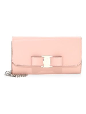 Salvatore Ferragamo vara leather convertible clutch