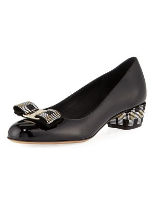 Salvatore Ferragamo Vara Mosaic Low-Heel Pumps