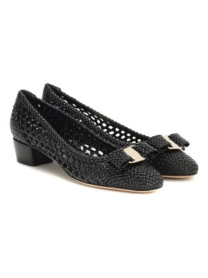 Salvatore Ferragamo vara woven leather pumps