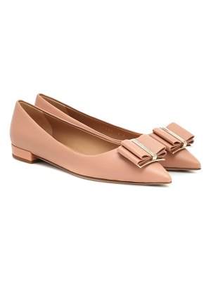 Salvatore Ferragamo zeri leather ballet flats