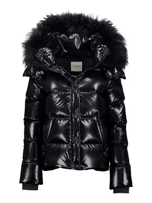 SAM. annabelle fox fur-trim down puffer