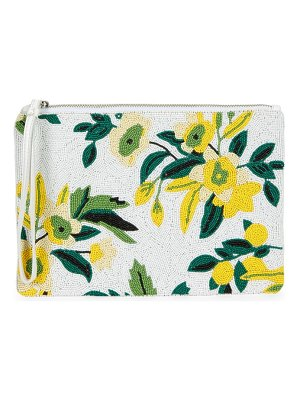Sam Edelman Abigail Floral Beaded Clutch