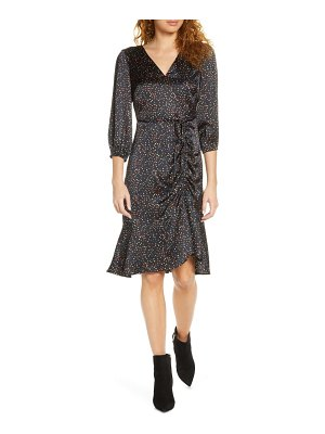 Sam Edelman colorful dot ruched dress