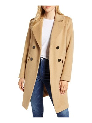 Sam Edelman double breasted wool blend coat