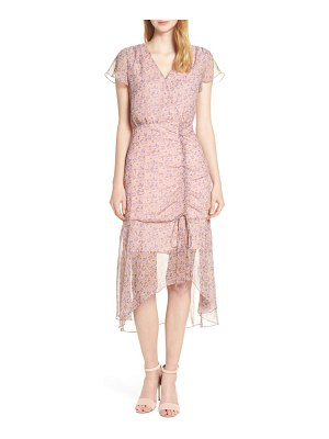 Sam Edelman ruched chiffon midi dress