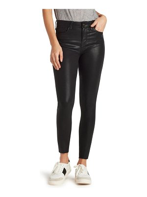 Sam Edelman the stiletto coated high waist raw hem ankle skinny jeans