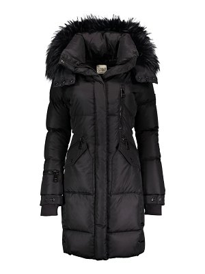 SAM. highway fur-trim down puffer coat