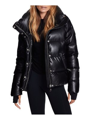 SAM. isabel vegan leather puffer down jacket