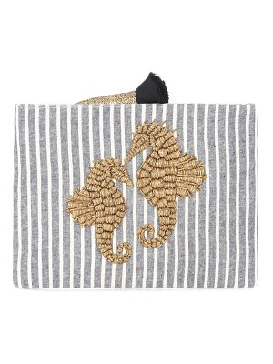 SANAYI 313 Cavallucio embroidered canvas clutch