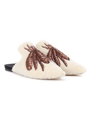 SANAYI 313 ragno embroidered wool slippers