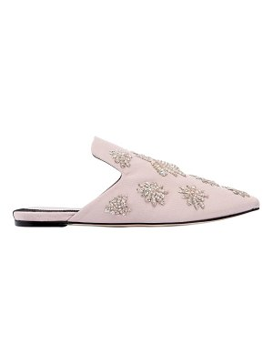 Sanayi313 10mm twill mules w/ embroidered spiders