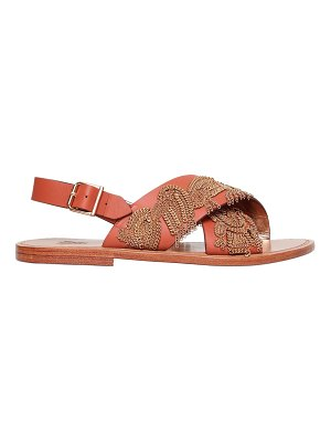 SANCHITA 10mm chain leather sandals