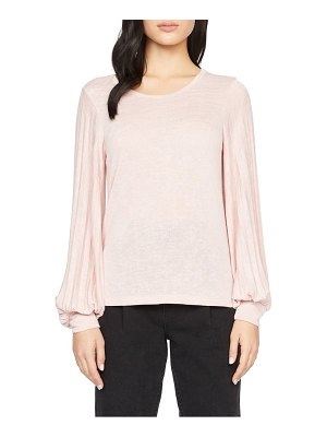 Sanctuary all out pleated sleeve knit top