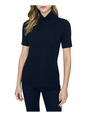 Sanctuary essential ribbed mock neck top
