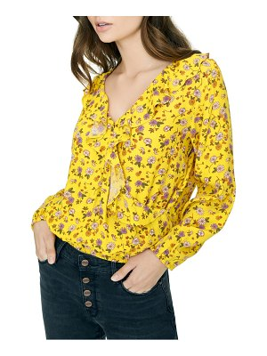Sanctuary jules ruffled faux wrap blouse