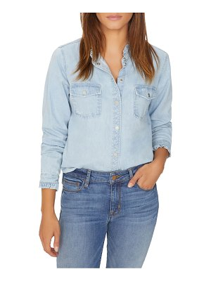 Sanctuary Juniper Ruffled Denim Button-Down Shirt