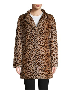 Sanctuary Leopard-Print Faux Fur Coat