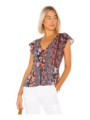 Sanctuary over the moon peplum shell top