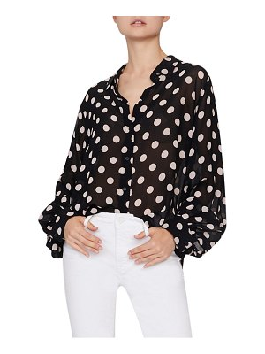 Sanctuary slone blouson sleeve polka dot blouse