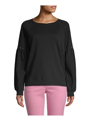 Sanctuary Studded Cotton Sweatshirt