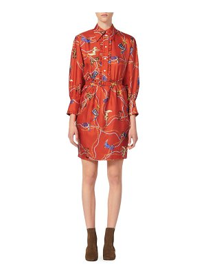 Sandro bootsy printed silk shirtdress