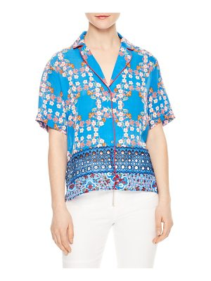 Sandro eyelet inset floral top