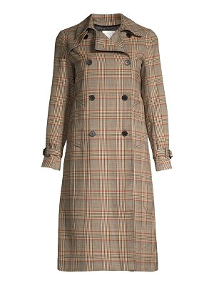 Sandro stain plaid trench coat