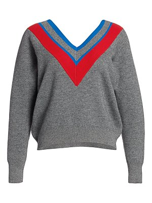 Sandro stripe wool & cashmere-blend sweater