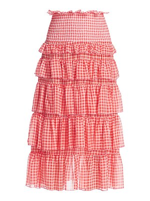 Sandy Liang choux-choux gingham tiered skirt