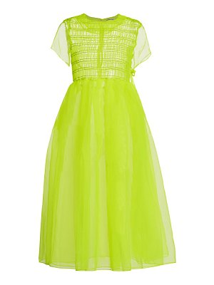 Sandy Liang greg smocked organza midi dress