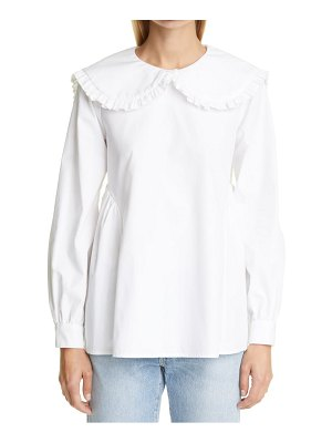 Sandy Liang laurie tie back poplin blouse