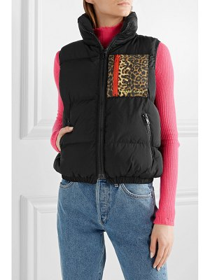 Sandy Liang primrose appliquéd quilted shell down vest