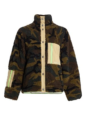 Sandy Liang rory camo fleece jacket