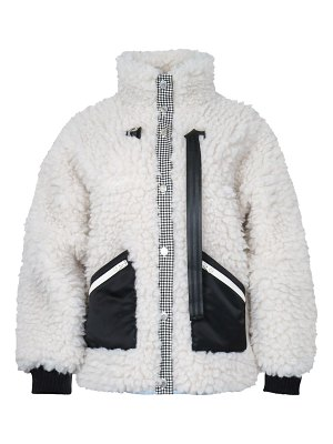 Sandy Liang seven faux fur fleece jacket