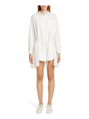 Sandy Liang ums tiered long sleeve shirtdress