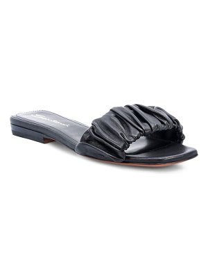 Santoni allonge leather slide sandal