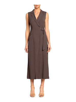 Santorelli Lydia Sleeveless Midi Wrap Dress