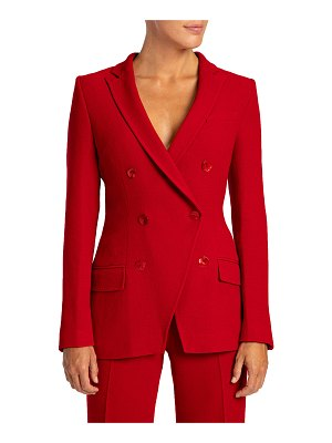 Santorelli Paco Double-Breasted Wool-Blend Crepe Jacket