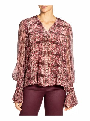 Santorelli Printed Double Georgette Voluminous Sleeve Blouse