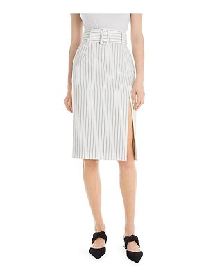 Sara Battaglia belted pencil skirt