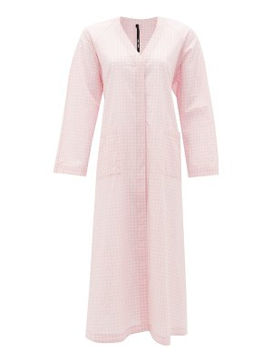 Sara Lanzi back-ties gingham cotton dress
