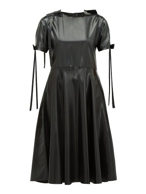Sara Lanzi bow-embellished pvc dress