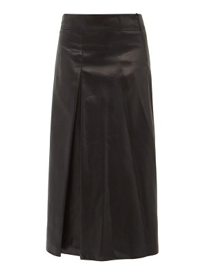 Sara Lanzi box-pleated charmeuse a-line skirt