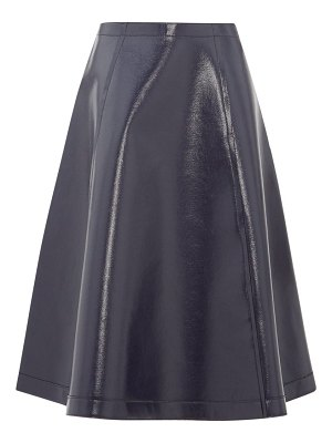 Sara Lanzi coated wool-blend a-line skirt