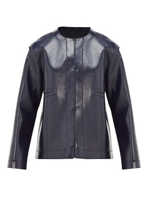 Sara Lanzi coated wool-blend jacket