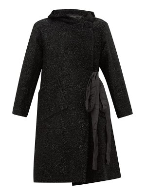Sara Lanzi double-breasted tinsel coat