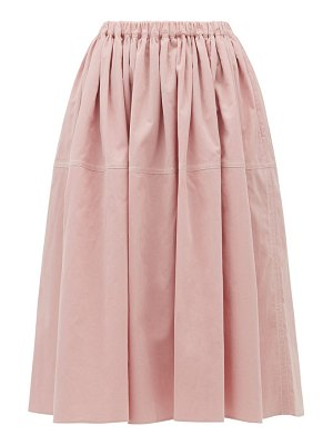 Sara Lanzi gathered cotton-corduroy skirt